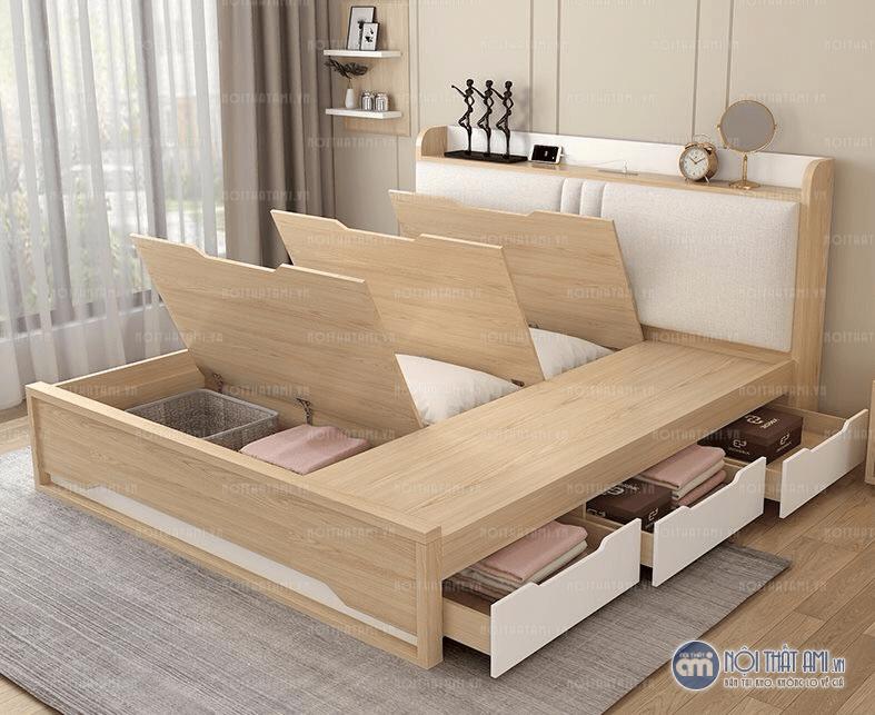 Giường ngủ nhiều ngăn chứa đồlà thiết kế mới của Nội thất AMI.