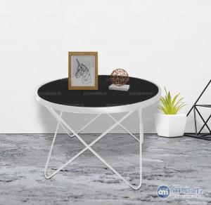 Bàn kính sofa chân kim loại hình saoKích thước: Đường kính:70cm x Cao:45cm Đặc điểm: Chân bàn được làm từ sắt phủ sơn tĩnh điện chống trầy xước và bền đẹp theo thời gian, mặt bàn làm từ kính dày sang trọng,dễ dàng vệ sinh.