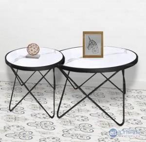 """Bàn trà sofa phòng kháchmặt đá hoặc kính khung kim loại phong cách hiện đại giá rẻ được làm """"đạt chuẩn"""" Nội Thất Thiên Vương – Kim loại kết hợp kính, đá phong cách châu âu"""