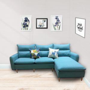 Sofa góc nỉ là dòng sofa góc được làm từ chất liệu nỉ cao cấp kết hợp khung gỗ tự nhiên đã qua tẩm sấy chống được mối mọt.