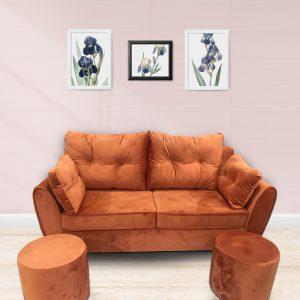 Dưới đây là một số hình ảnh Bộ Sofa văng nỉ đệm rời – SFV16 tại Nội Thất Ami: Sofa văng được dựng trên khung gỗ tự nhiên đã qua tẩm sấy, chống mối mọt, giúp bộ sofa chắc chắn, nhiều người có thể ngồi cùng một lúc