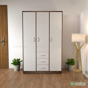 Tủ quần áo gỗ 3 ngăn kéo giữa