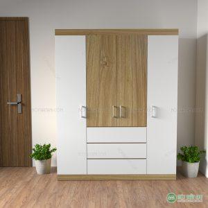 Tủ quần áo 4 cánh gỗ công nghiệp MDF rẻ