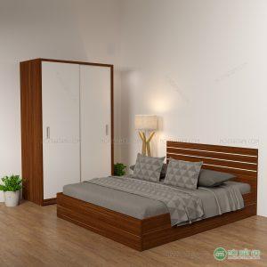 Giường ngủ gỗ công nghiệp kẻ chỉ đầu giường mang lại một không gian phòng ngủ đẹp, sang trọng. Là 1 trong những mẫu giường ngủ gỗ công nghiệp hiện đại đang được ưa chuộng và là 1 trong những lựa chọn hàng đầu với chất lượng và dịch vụ tốt nhất từ nội thất Ami