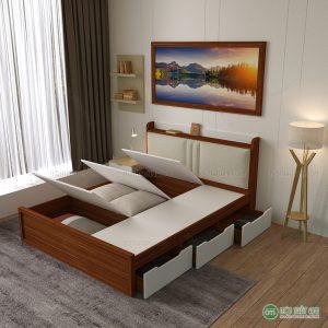 Giường ngủ đa năng đệm đầu giường gỗ công nghiệp là một trong những mẫu giường đang được khách hàng rất ưa chuộng của nội thất Ami. Sau một ngày làm việc vất vả, giường ngủ sẽ là nơi bạn để bạn nghỉ ngơi, lấy lại sức khỏe để bắt đầu ngày mới. Vì vậy, việc chọn một chiếc giường tốt là điều hết sức cần thiết. Không chỉ cho bạn giấc ngủ ngon mà còn tốt về chất lượng, đẹp về thẩm mĩ. Hãy cùng chúng tôi đi khám phá mẫu sản phẩm có một không hai này nào!