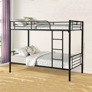 Giường tầng sắt 2 tầng giá rẻ có thanh chắn GT-06